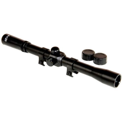 JSR 4x20 Air Rifle Gun SCOPE Telescopic Sight WITH 11mm Airgun Mounts Rings