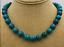"Nuevo 10 mm Azurita Chrysocolla Gem Collar 18/"" Plata Tibetana Broches De Amor"