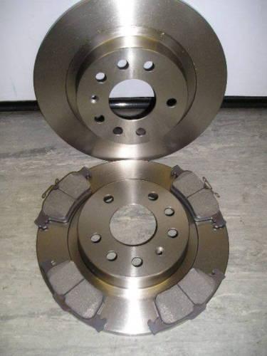 Saab 9-3 1.8 1.9 arrière disques de frein et plaquettes 2004-2009 new coated design