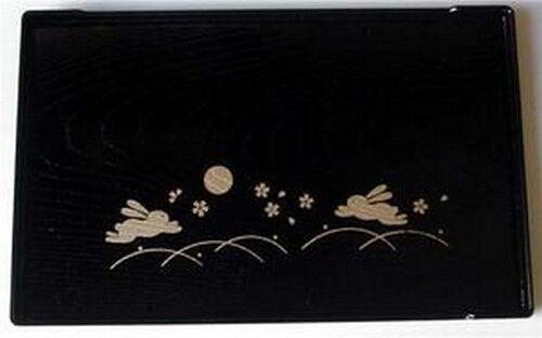 Japanese Bunny Usagi Plastic Sushi Dinner Plate B #6389 S-2940