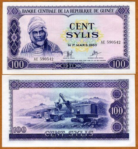1971 aUNC Pick 19 Guinea,100 Sylis