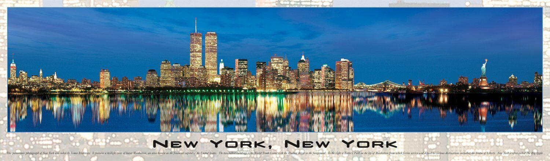nuovo York, nuovo York     3 FEET lungo Panoramic Puzzle 750 PIECE -38  X 11  (2006)  consegna gratuita e veloce disponibile