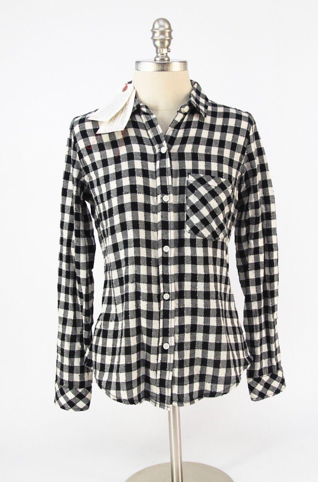 NEW  Current Elliot Workwear Slim Boy Buffalo Check Plaid Shirt Größe 1