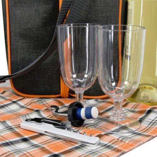 Geezy Famille Sac Isotherme Pique-Nique à Dos Panier Refroidisseur de Vin Café