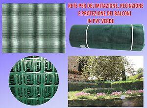 Delimitazioni E Recinzioni In Plastica.Dettagli Su Rete Per Balconi Su Misura Rete In Plastica Per Balconi E Recinzioni H 1metro