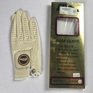 Prima-Golf-Glove-Mens-Right-Small-Leather-Dri-Sof-Cream-All-Weather-Eggshell-NEW