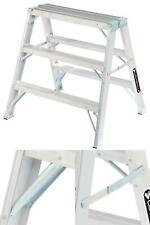 LOUISVILLE L-2032-03 Sawhorse Ladder,Aluminum,34-3//4 W,37 H