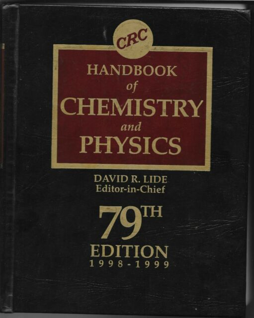 CRC Handbook of Chemistry and Physics by David R. Lide Jr. (1998, Hardcover,...