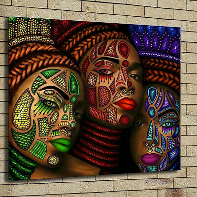 Home Decor African Art HD Prints Canvas Character Painting ...