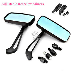 Details about Rectangle Rear View Mirrors For Suzuki Marauder VZ 800 1600  Savage LS 650 Bobber