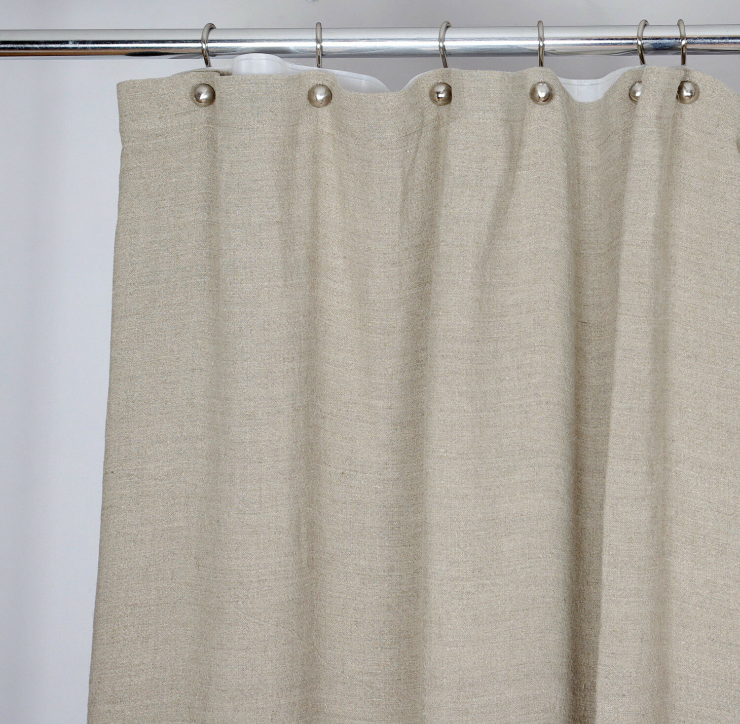 Washed 100 Linen Shower Curtain 72x72 Inch Bath French Country Beige Ivory 945a3a