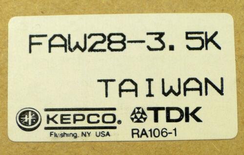 28 VDC @ 3.5 Amps POWER SUPPLY KEPCO TDK FAW28-3.5K Qty:1 *UNUSED* *NIB*