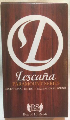 RS BERKELEY BOX OF 10 CLARINET LESCANA PARAMOUNT SERIES REEDS ALL SIZES
