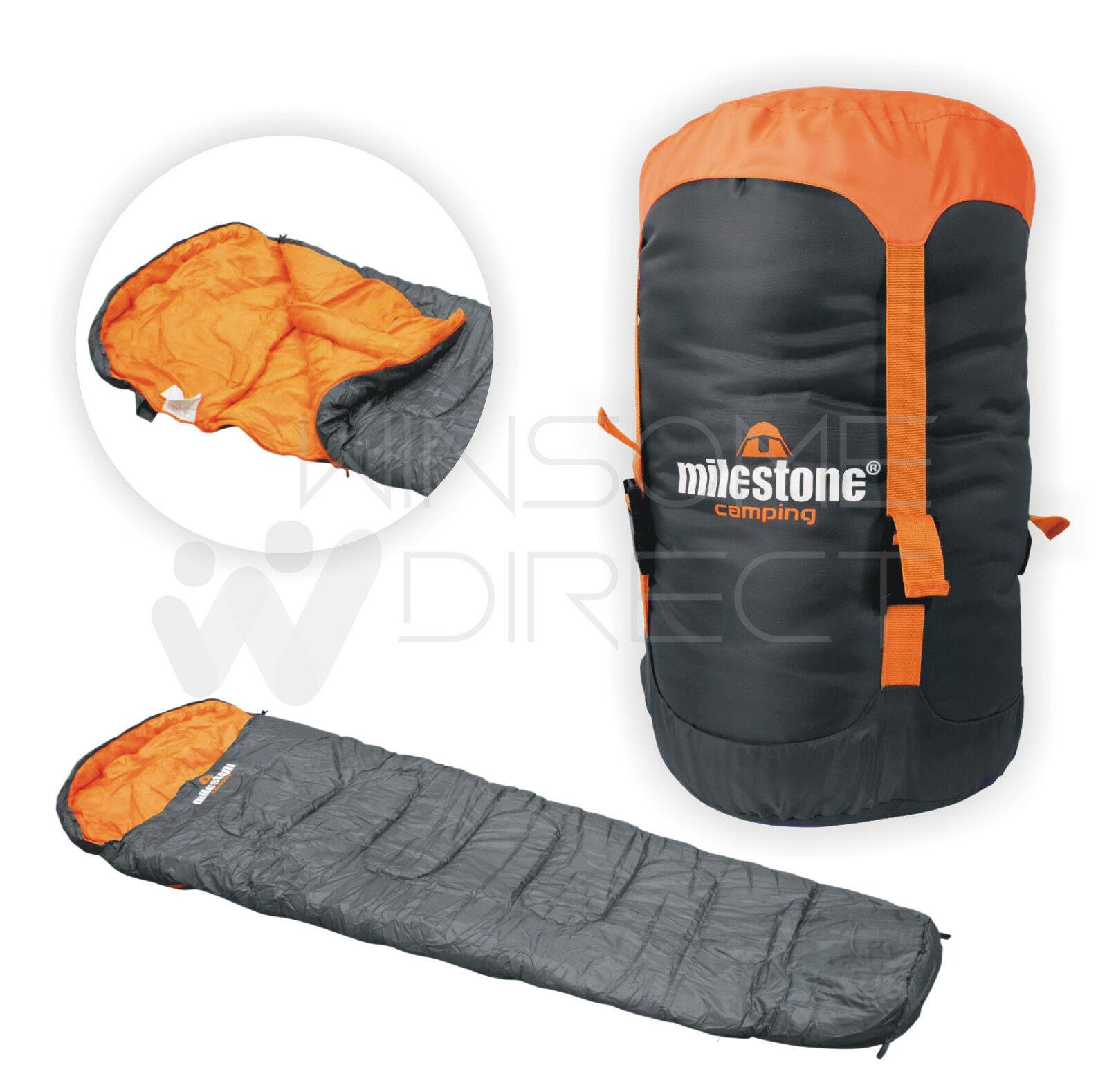 Mumie Unisex Double Layer Camping, Wander-Umschlag Warmer Erwachsener Schlafsack Grau