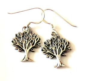 Baum-des-Lebens-Ohrhaenger-925-Sterling-Silber-Ohrringe-Neu-Tree-of-Life-Earrings