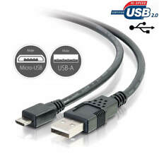 6ft Black Gold-Plated USB 2.0 Cable for Sennheiser PXC 310 BT Wireless Headphones