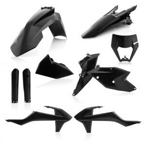 KTM-EXC-EXCF-2017-2019-ACERBIS-FULL-PLASTIC-KIT-BLACK
