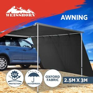 Weisshorn-2-5MX3M-Car-Side-Awning-Extension-Roof-Rack-Tent-Shade-Camping-4X4-4WD