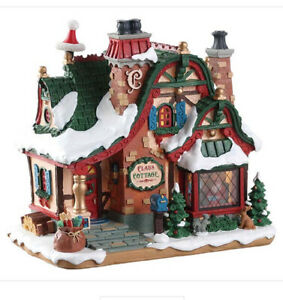 Lemax  THE CLAUS COTTAGE-Holiday Village-Train -Lighted LED Building