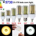 LAMPADINA E14/E27/GU10/G9 3/5/7/9/12/15W 5730 LED LAMPADA MAIS LUCE BIANCO/CALDO