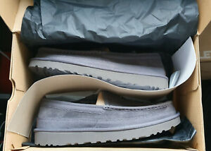 UGG-Mens-Slippers-Dex-Grey-Suede-size-UK-9-new-in-box