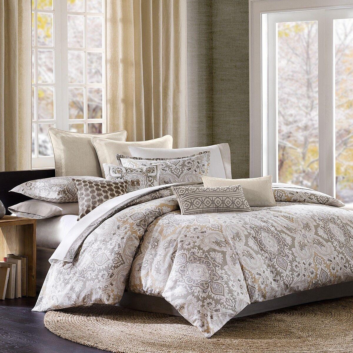Echo Bedding Odyssey 2-PC Cotton Polyester TWIN Comforter Set Beige  282 3 G2170