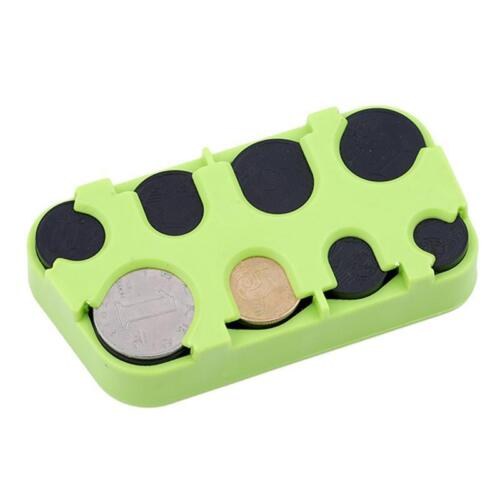 Euro Coin Changer Dispenser Plastic Coin Storage Box Wallet Organizer Holder KI