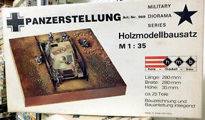 VINTAGE-Holz-Modellbausatz-969-Panzerstellung-scala-1-35