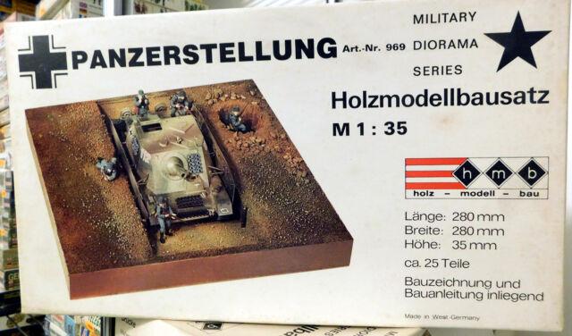 VINTAGE Holz Modellbausatz 969 Panzerstellung scala 1/35