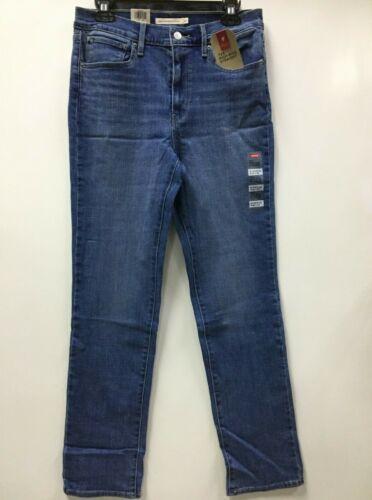 "Levi/'s Women/'s Jeans /""724/"" High-Rise Straight,Slim Through hip /& thigh,Blue 0014"