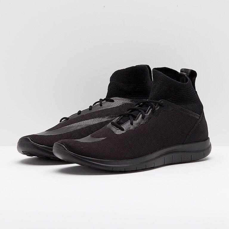 Nike Free Hypervenom 3 FK Triple Black Mens SZ 13