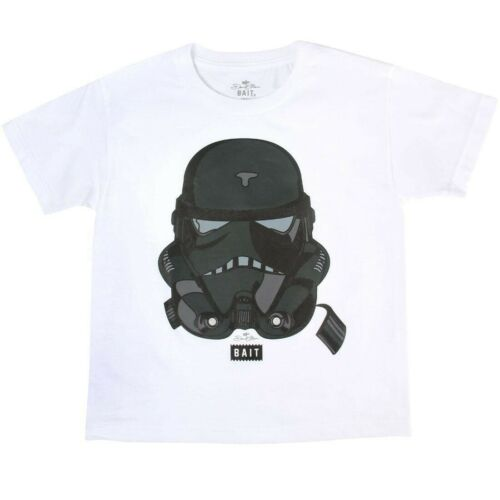 Details about  /BAIT x David Flores Youth Trooper Tee white