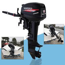 2 Stroke 18hp Heavy Duty Outboard Motor Water Cooling Short Shaft 40cm 246cc Usa