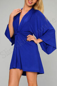 jersey-blue-kimono-batwing-mini-v-neck-iro-cotton-tunic-sundress-dress-S