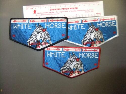 Boy Scout OA 201 White Horse OBV set 5452FF