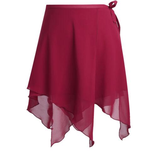 Adult Womens Chiffon Ballet Tutu Dance Skirt Latin Dress Wrap Scarf Dancewear