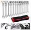 thumbnail 1 - Combination Wrench Spanner Set 19 Pieces 8-19mm Ratchet Flexible Head, Carry Bag