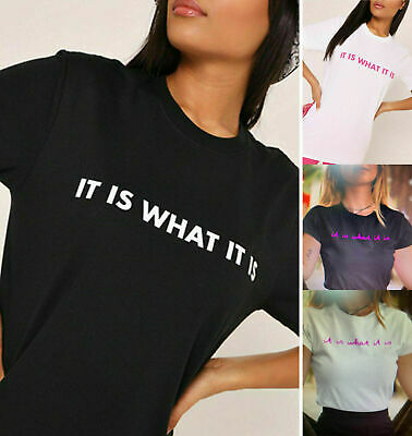 It Is What It Is Love Island Quote Saying 2019 Slogan Funny Ladies T-Shirt