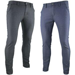 Pantaloni-uomo-slim-fit-eleganti-casual-elasticizzati-fantasia-tasca-america-RDV