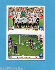 FIFA 365/2016-PANINI ITA-Figurina n.58/59- GERMANY TEAM - USA/JAPAN 5-2-NEW