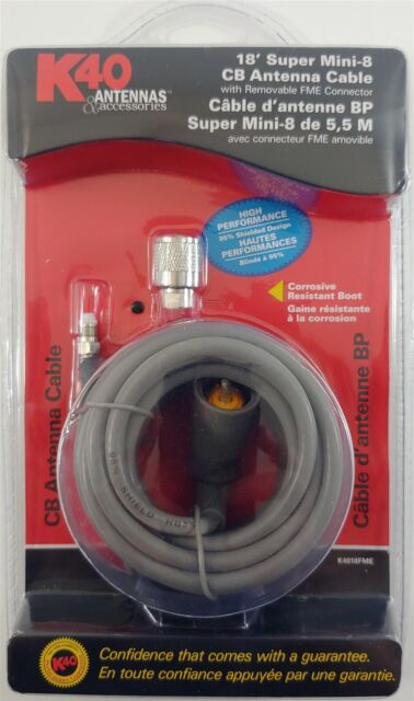 RoadPro RP-8X12CL Clear 12-Feet CB Antenna with Mini-8 Coax Cable