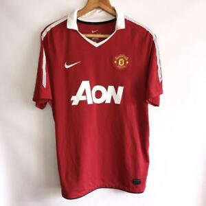 new styles 5d0b7 8d768 Image is loading RARE-MANCHESTER-UNITED-HOME-2010-11-ORIGINAL-FOOTBALL-