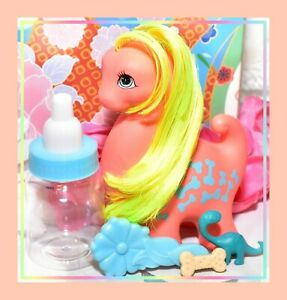 My-Little-Pony-MLP-G1-Vtg-Pal-Friend-CUTESAURUS-the-Dino-Dinosaur-amp-Brush