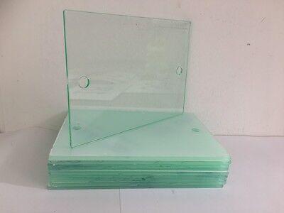 Signo de Casa Moderna Placa Placa de Vidrio Transparente Efecto de Acrílico en Blanco 1 X 20//14cm
