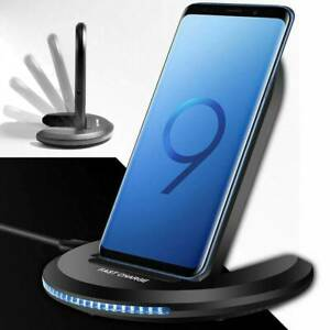 Details about Qi Wireless Charger 10W Fast Charging Stand Dock For iPhone 11 X Samsung S10 S9