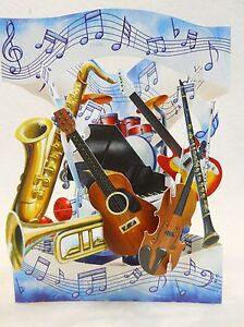 MUSICAL-INSTRUMENTS-Greeting-Card-3-D-Interactive-Swing-by-Santoro-Graphics-88