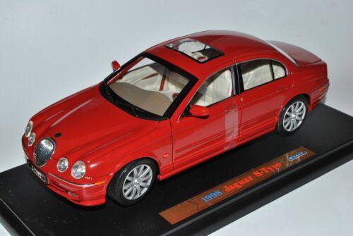 Jaguar S-Type Sedán rojo 1999-2007 1//18 Welly modelo coche con o sin ind...