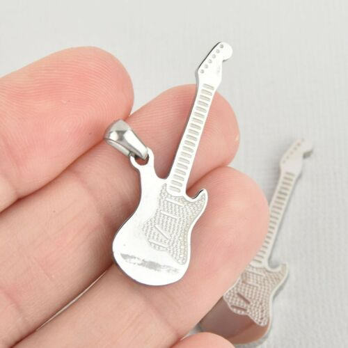 1 ELECTRIC BASS GUITAR Charm Silver Stainless Steel chs5542