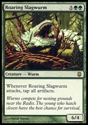MTG 4x ROARING SLAGWURM Darksteel *Rare 6//4 Wurm*