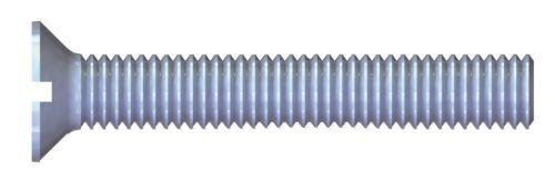 Stahl verzinkt blau REISSER Gewindeschrauben mit Flachsenkkopf DIN 963 Schlitz